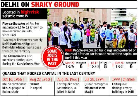 quake in delhi